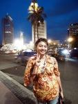 Bundaran Hotel Indonesia during Christmas eve